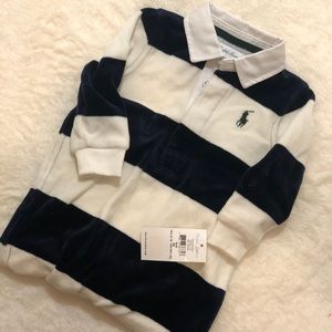 Brand New with Tags Boys 6M Ralph Lauren onesie!